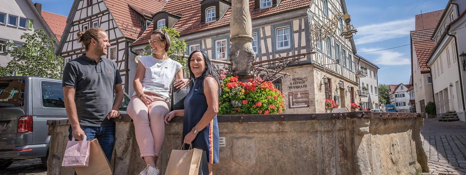 Fachwerkromantik in der Münsinger Innenstadt  im Biosphärengebiet Schwäbische Alb - perfekt zum Städtebummel.