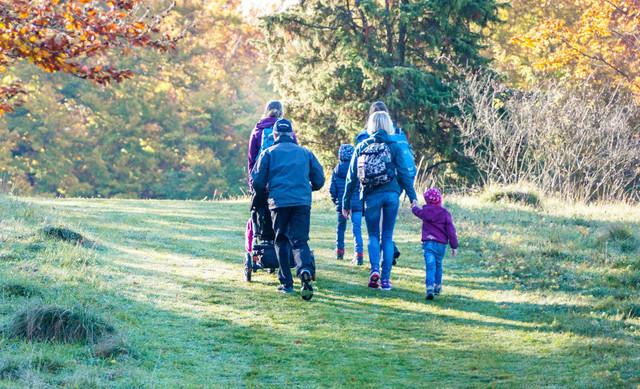Eine Wanderung mit der ganzen Familie in Münsingen.