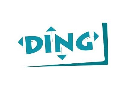 Das Logo von Ding.