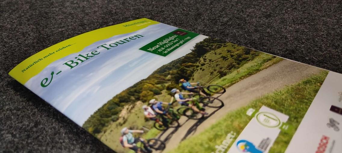 Die e-Bike Broschüre von Münsingen mit allen Touren.