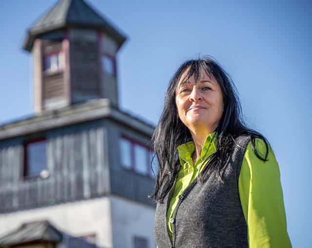 Karin Ludwig vom Team der Touristik Information Münsingen.