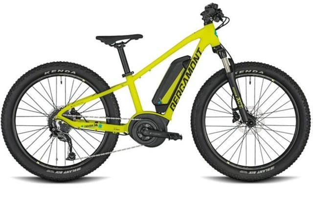 Das E-Bike Bergamont E-Revox Junior 24 Zoll 2020 in neon-gelb.