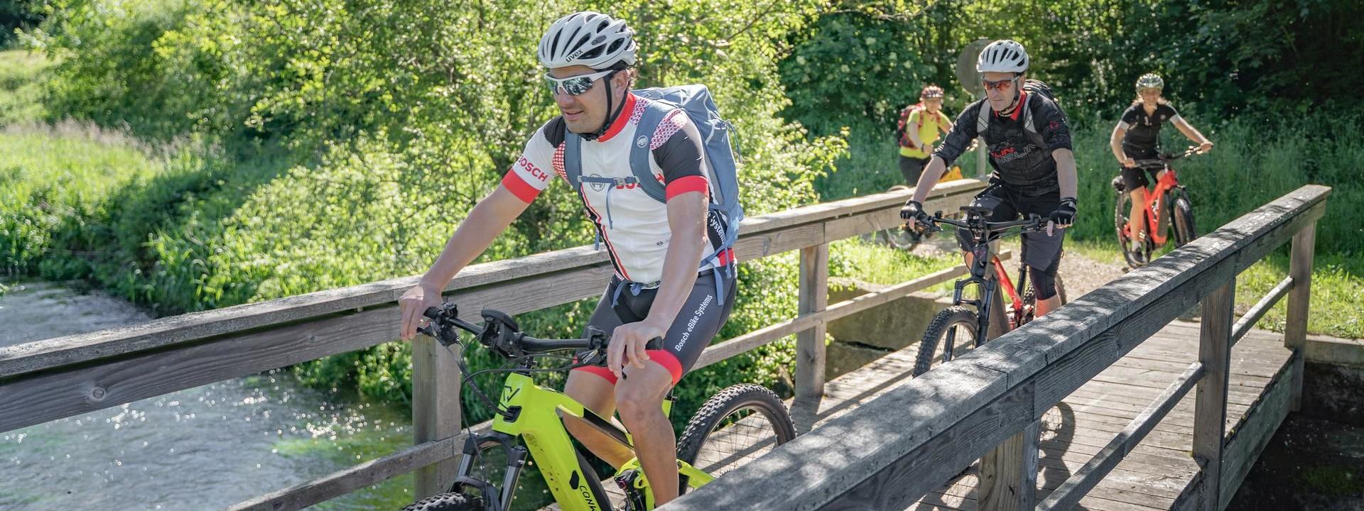 E-Bike Touren im Großen Lautertal in Münsingen im Biosphärengebiet Schwäbische Alb.