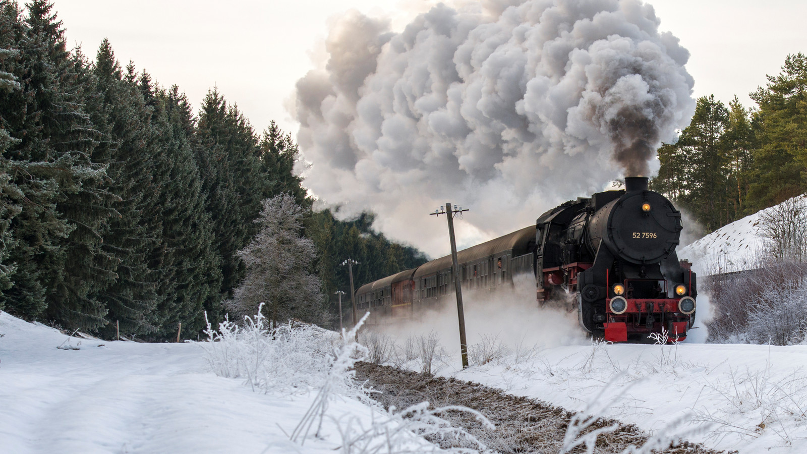 Alb Bahn im Winter in Münsingen