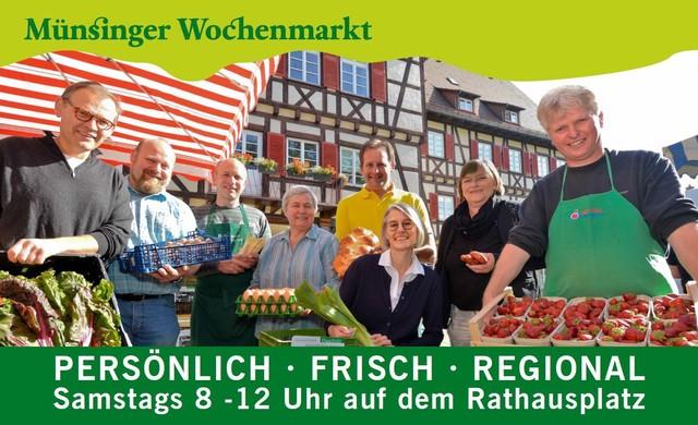Flyer Wochenmarkt in Münsingen