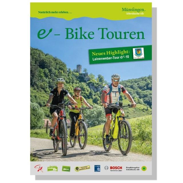 Das Cover der Broschüre der e-Bike Touren in Münsingen.
